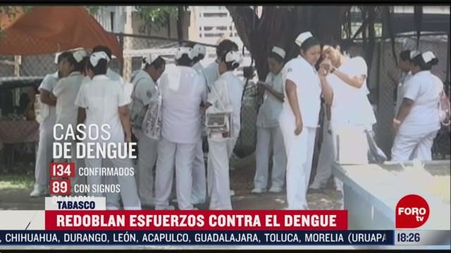 FOTO: refuerzan medidas por alza en casos de dengue en tabasco