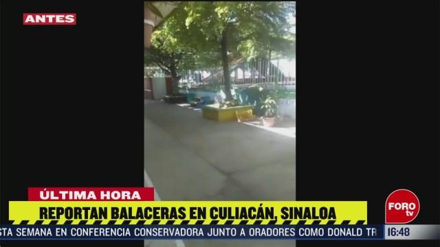FOTO: reportan balaceras en culiacan sinaloa