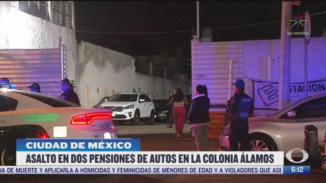 roban vehiculos en estacionamientos de la alamos en la cdmx
