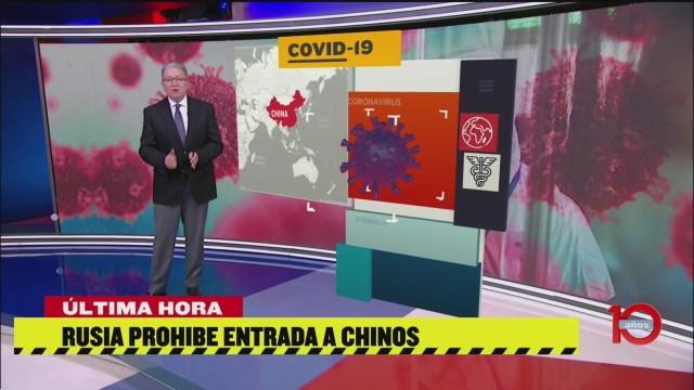 FOTO: rusia prohibira entrada de chinos por el coronavirus