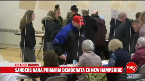 sanders gano la eleccion primaria en nueva hampshire