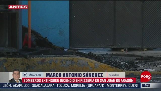 FOTO: 16 Febrero 2020, se incendia pizzeria en san juan de aragon
