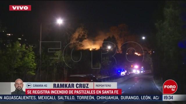 FOTO: 23 Febrero 2020, se registra incendio en pastizales de santa fe