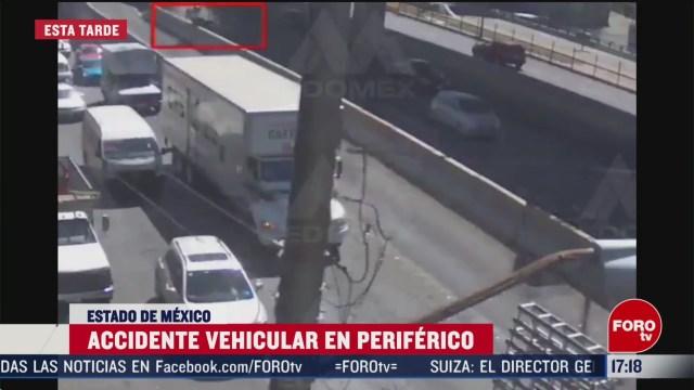 FOTO: se registra nuevo accidente en periferico en el mismo lugar don volo un automovil