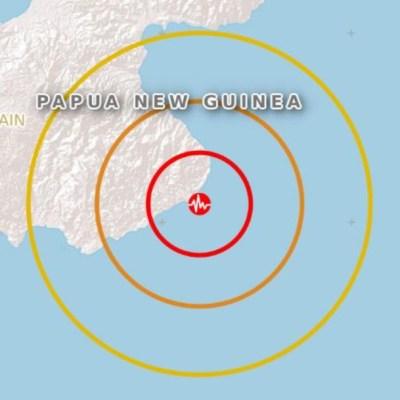 Sismo de magnitud 6.2 sacude a Papúa Nueva Guinea