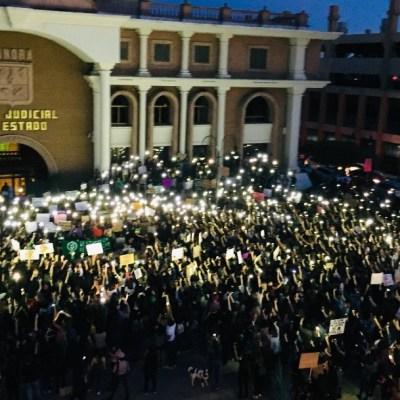 Foto: La marcha convocada por el colectivo 'Jóvenes Feministas del Desierto'fue con motivo de alzar la voz y visibilizar la violencia contra las mujeres en el país