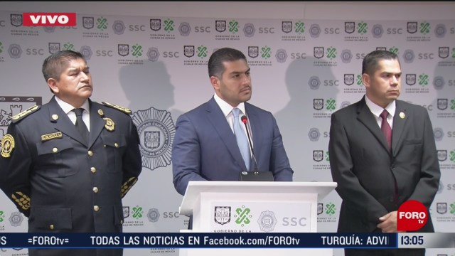FOTO: ssccdmx informa sobre detenciones en capital de mexicana