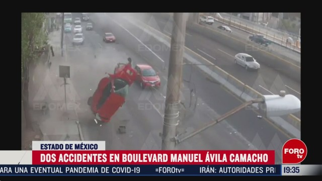 Foto: Video Accidente Periférico Norte Torres de Satélite 24 Febrero 2020