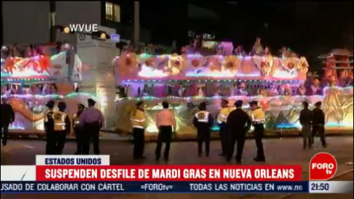 FOTO: 22 Febrero 2020, suspenden desfile de mardi gras en nueva orleans tras muerte de una persona