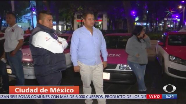 taxistas se concentran en reforma cdmx realizaran una protesta