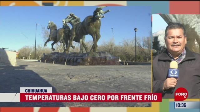 temperaturas bajo cero por frente frio en chihuahua