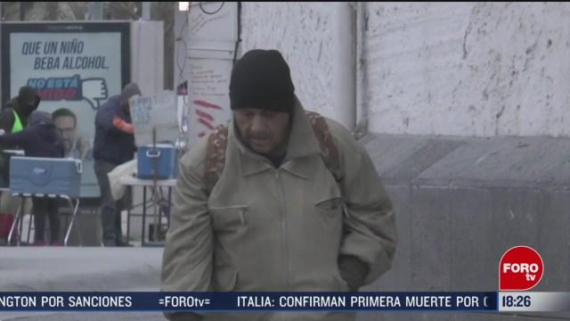 FOTO: temperaturas congelantes continuan en ciudad juarez chihuahua