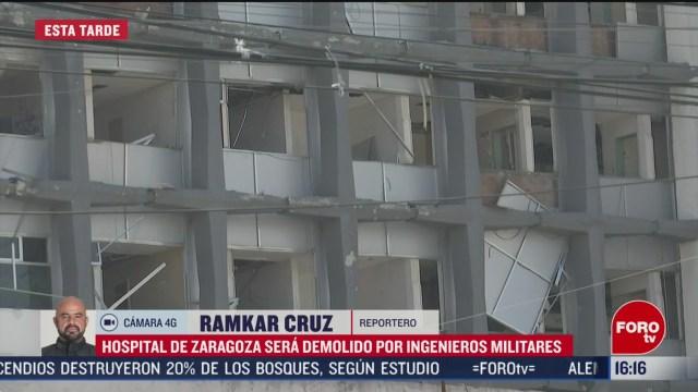FOTO: tras danos por sismos hospital de zaragoza sera demolido