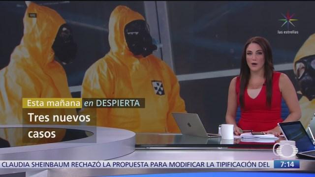 tres nuevos casos sospechosos de coronavirus en mexico