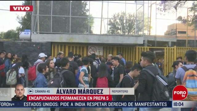 FOTO: unam ordena evacuacion de estudiantes y profesores de la prepa