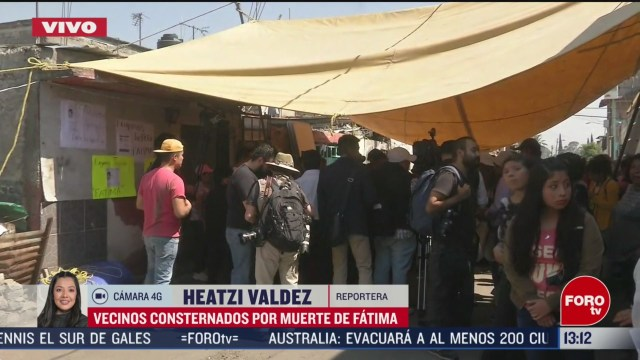FOTO: vecinos rinden homenaje a fatima cecilia nina asesinada afuera de su casa