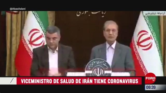 viceministro de salud de iran tiene coronavirus