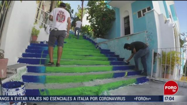 FOTO: 1 marzo 2020, adornan con murales lugares con altos niveles delictivos en colima