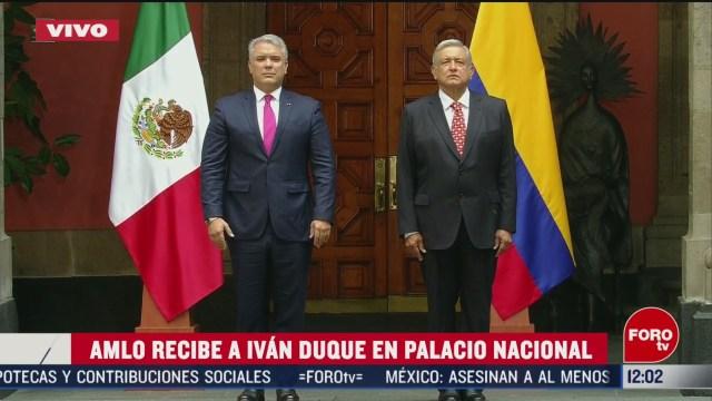 amlo recibe al presidente de colombia ivan duque en palacio nacional