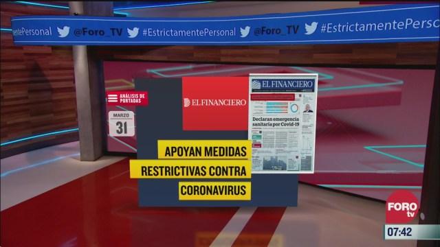 analisis de las portadas nacionales e internacionales del 31 de marzo del