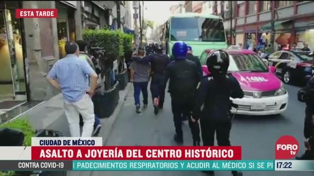 FOTO: asaltan joyeria en el centro historico de la cdmx