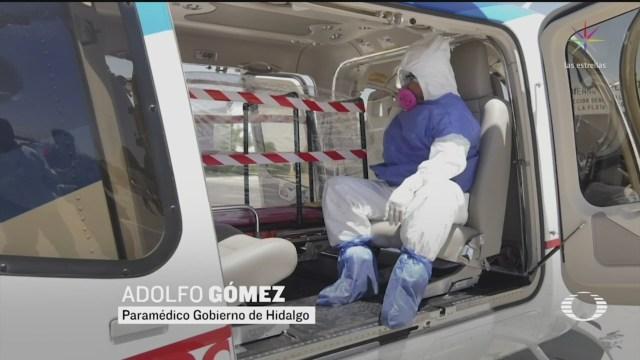 Foto: Coronavirus Helicóptero Ambulancia Hidalgo Trasladar Personas 30 Marzo 2020