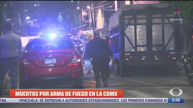 balaceras deja tres muertos en diferentes puntos de la cdmx