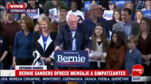 Foto: Bernie Sanders Asegura Le Ganarán Trump 3 Marzo 2020