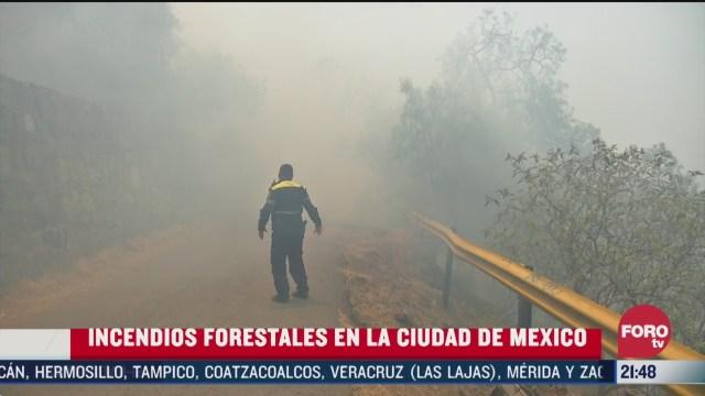 Foto: Bomberos Atienden 80 Incendios Forestales Cdmx 31 Marzo 2020