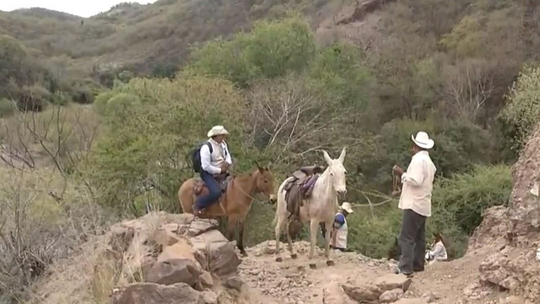 Hasta en burro, encuestadores del INEGI realizan Censo 2020