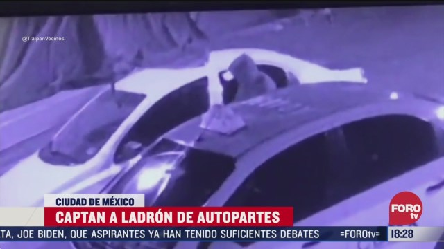 FOTO: captan robo de autopartes en tlalpan 15 de marzo del