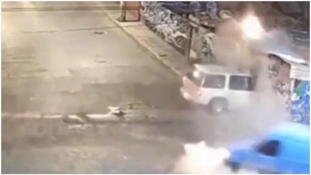 Foto: Tres personas resultan heridas tras accidente de dos camionetas en Naucalpan, 1 de marzo 2020 (Foro TV)