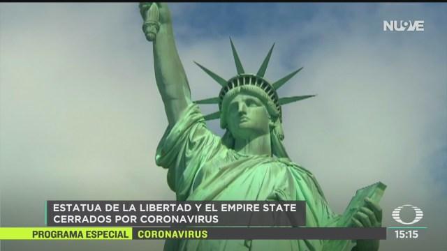 FOTO: cierran estatua de la libertad y el mirador empire state por coronavirus