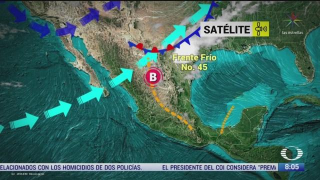 clima al aire lluvias y granizo en gran parte de mexico