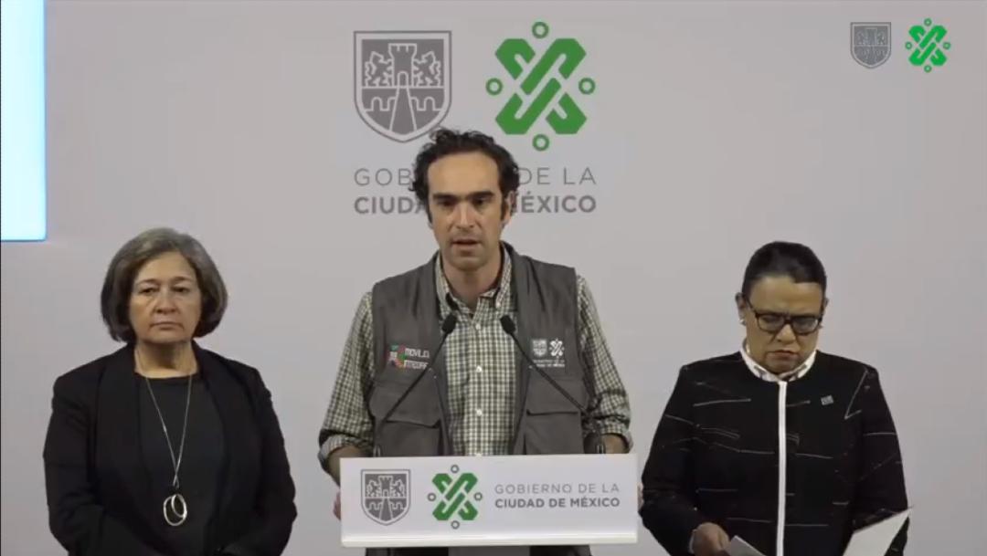 Foto: Ándrés Lajous Loaeza, secretario de Movilidad, en conferencia de prensa, 11 marzo 2020