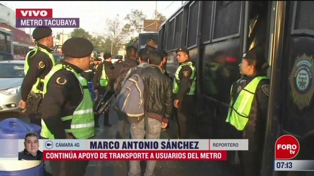 FOTO: 16 marzo 2020, continua apoyo de transporte a usuarios del metro cdmx