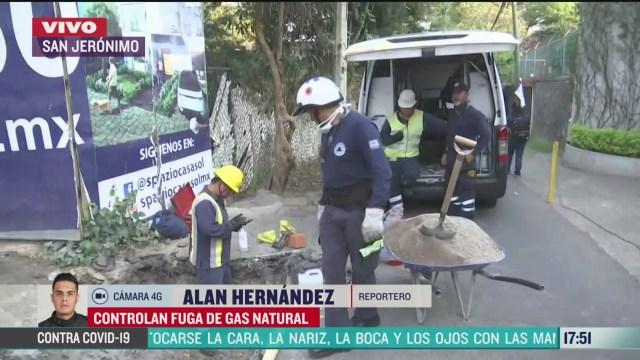 FOTO: controlan fuga de gas natural en san jeronimo
