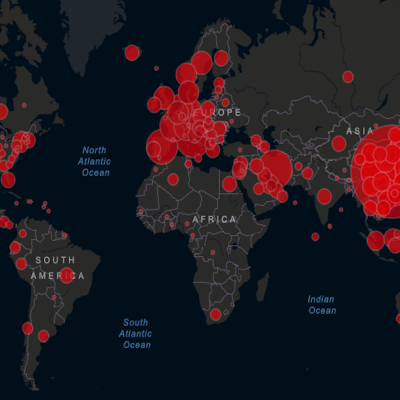 Mapa muestra seguimiento en tiempo real del coronavirus COVID-19
