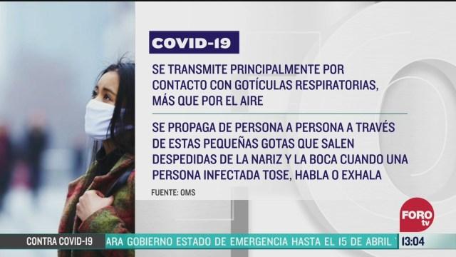 FOTO: coronavirus se transmite por el aire