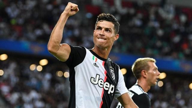 Cristiano Ronaldo celebrando el segundo gol de su equipo Juventus, 28 marzo 2020