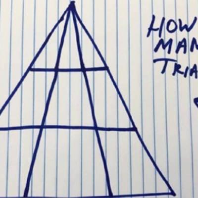 ¿Cuántos triángulos hay en la imagen? el reto matemático que pocos pueden responder