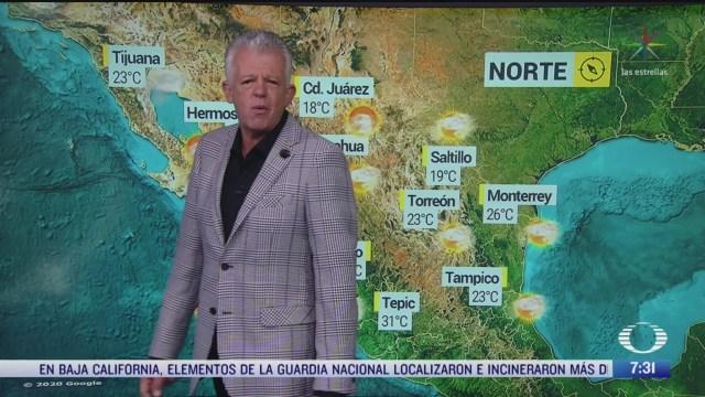 despierta con tiempo lluvias fuertes en el sureste de mexico