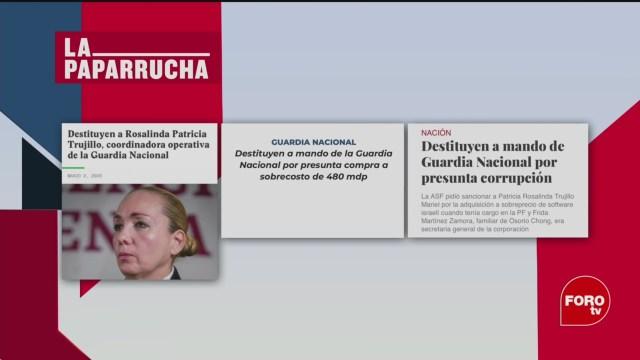 Foto: Destitución Patricia Trujillo Mariel Guardia Nacional Noticias Falsas 4 Marzo 2020