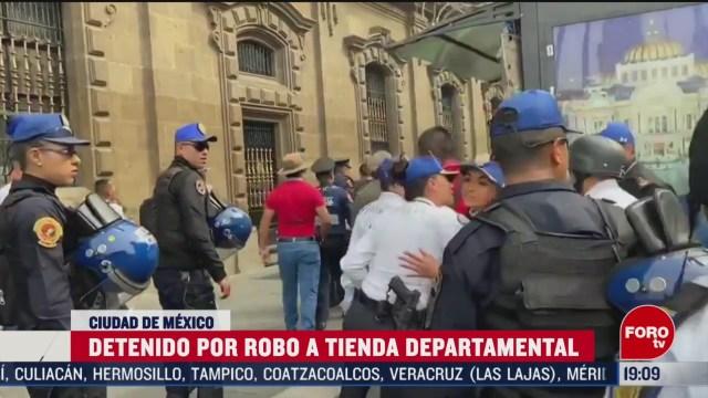 FOTO: 7 marzo 2020, detienen a hombre por asalto a tienda departamental del centro historico