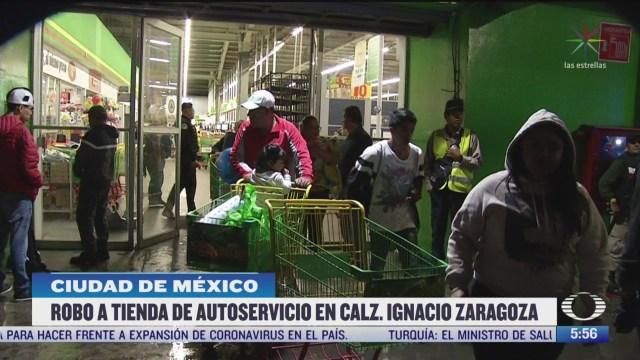 detienen a personas por robar tienda de autoservicios en la cdmx