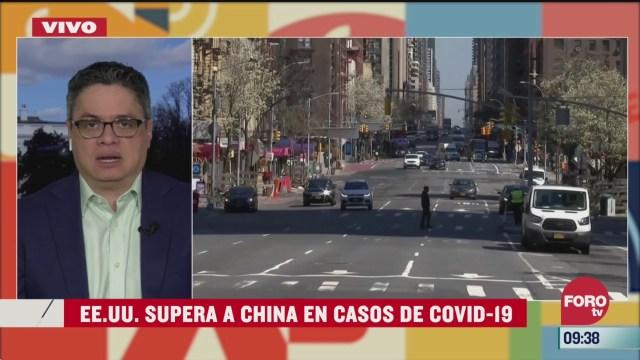 eeuu el pais con mayor numero de casos de coronavirus