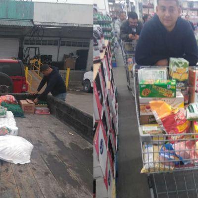 Empresario solidario da despensas a sus empleados por cuarentena de coronavirus