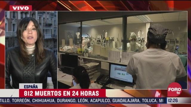 en espana van 812 muertos por coronavirus en las ultimas 24 horas