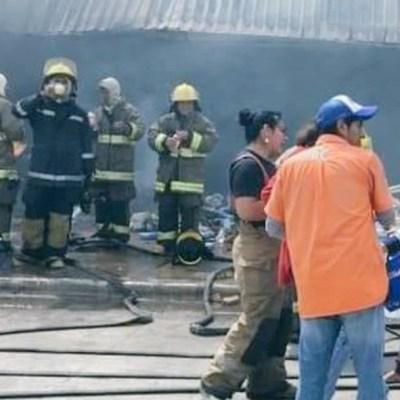 Incendio consume tienda de autoservicio en Veracruz