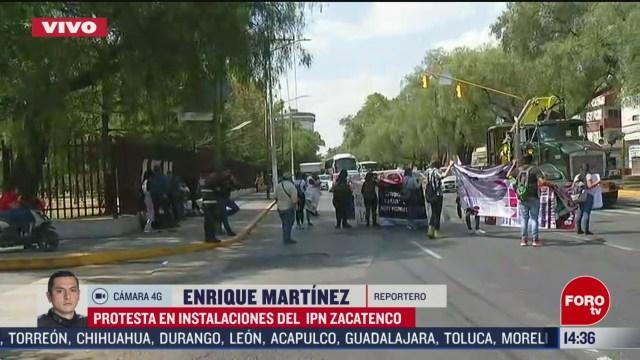 FOTO: estudiantes bloquean avenida instituto politecnico nacional